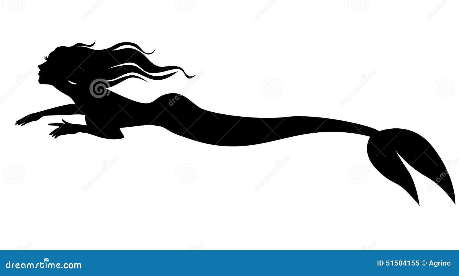 silhouette mermaid swimming forward stock vector swimming logo pic swimming logo s