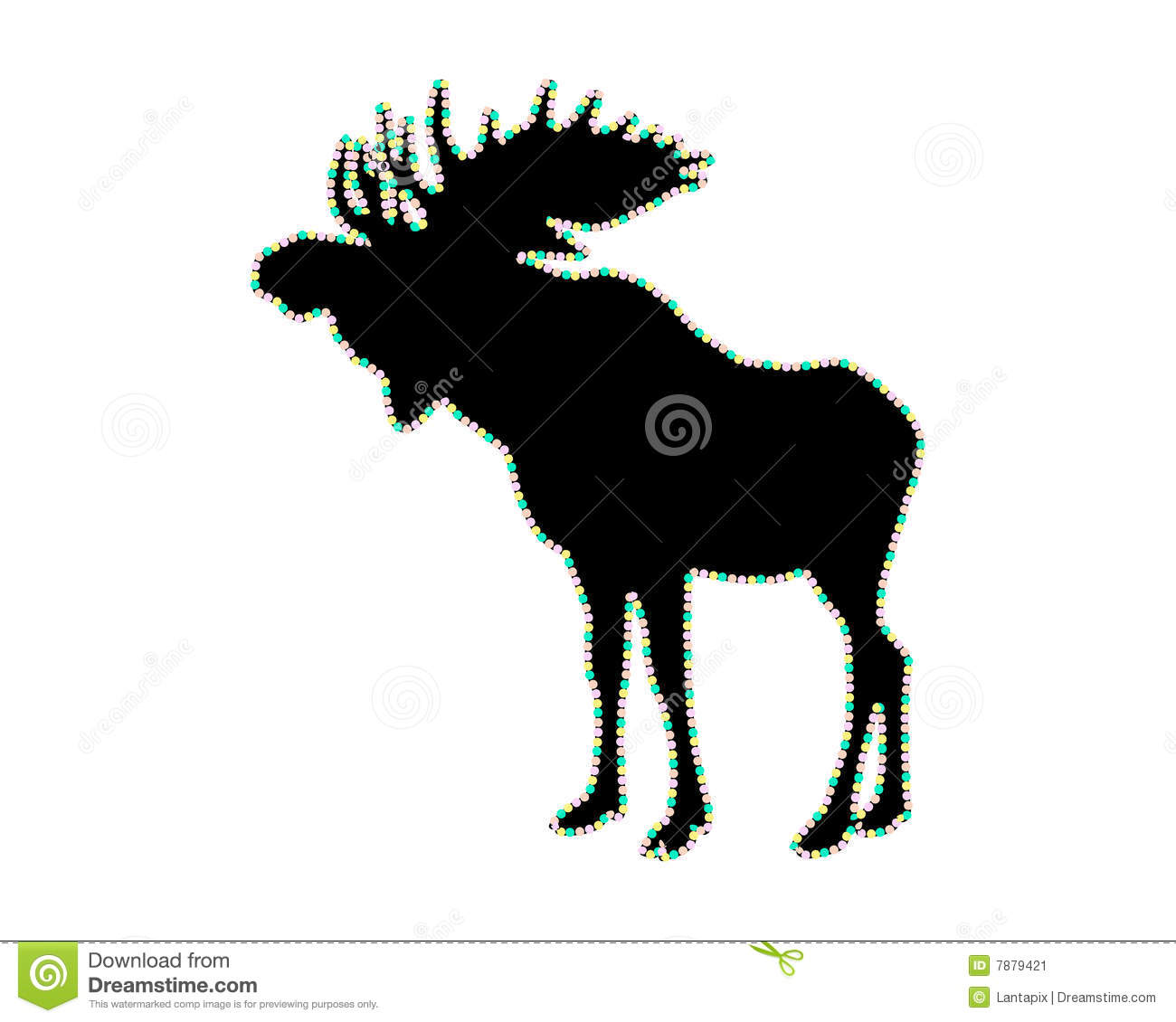 Silhouette Of A Moose Stock Image - Image: 7879421 Eagle Silhouette Vector