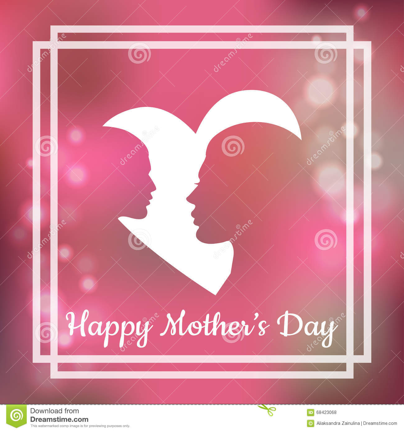 Silhouette of mother and her child with text for happy mothers day silhouette of mother and her child with text for happy mothers day greeting card kristyandbryce Choice Image