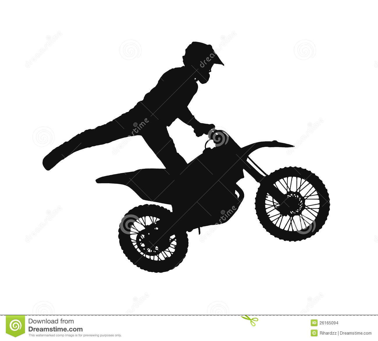 Silhouette Of Motocross Rider Stock Images - Image: 26165094