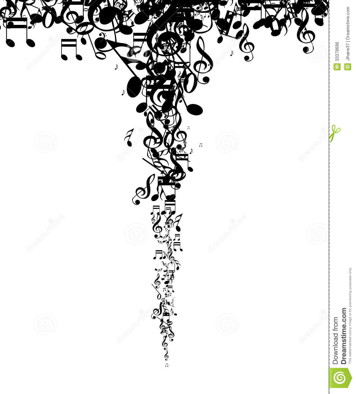 Silhouette Music Notes Background Royalty Free Stock Image - Image ...