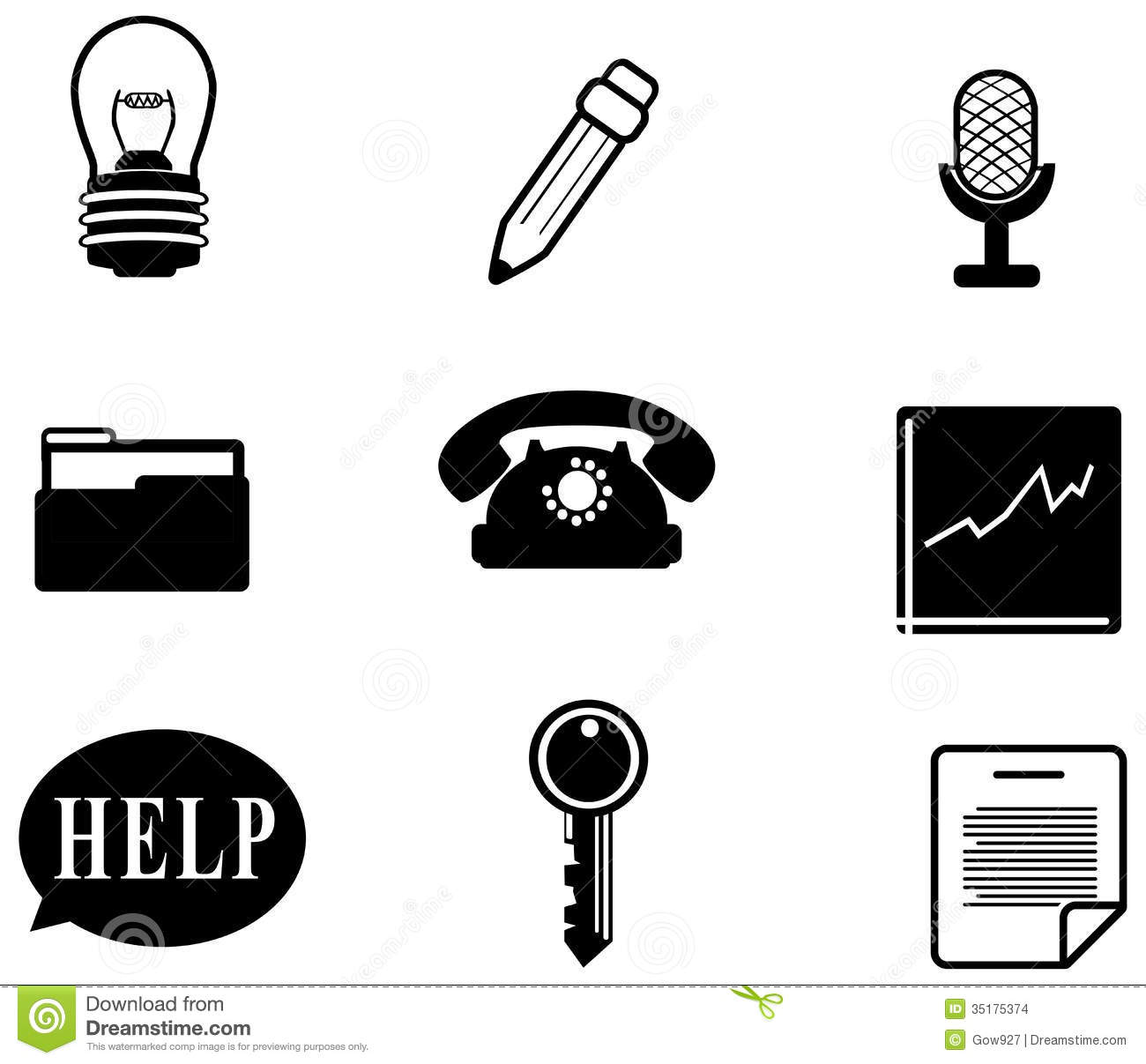Silhouette Office And Business Miscellaneous Icon Stock