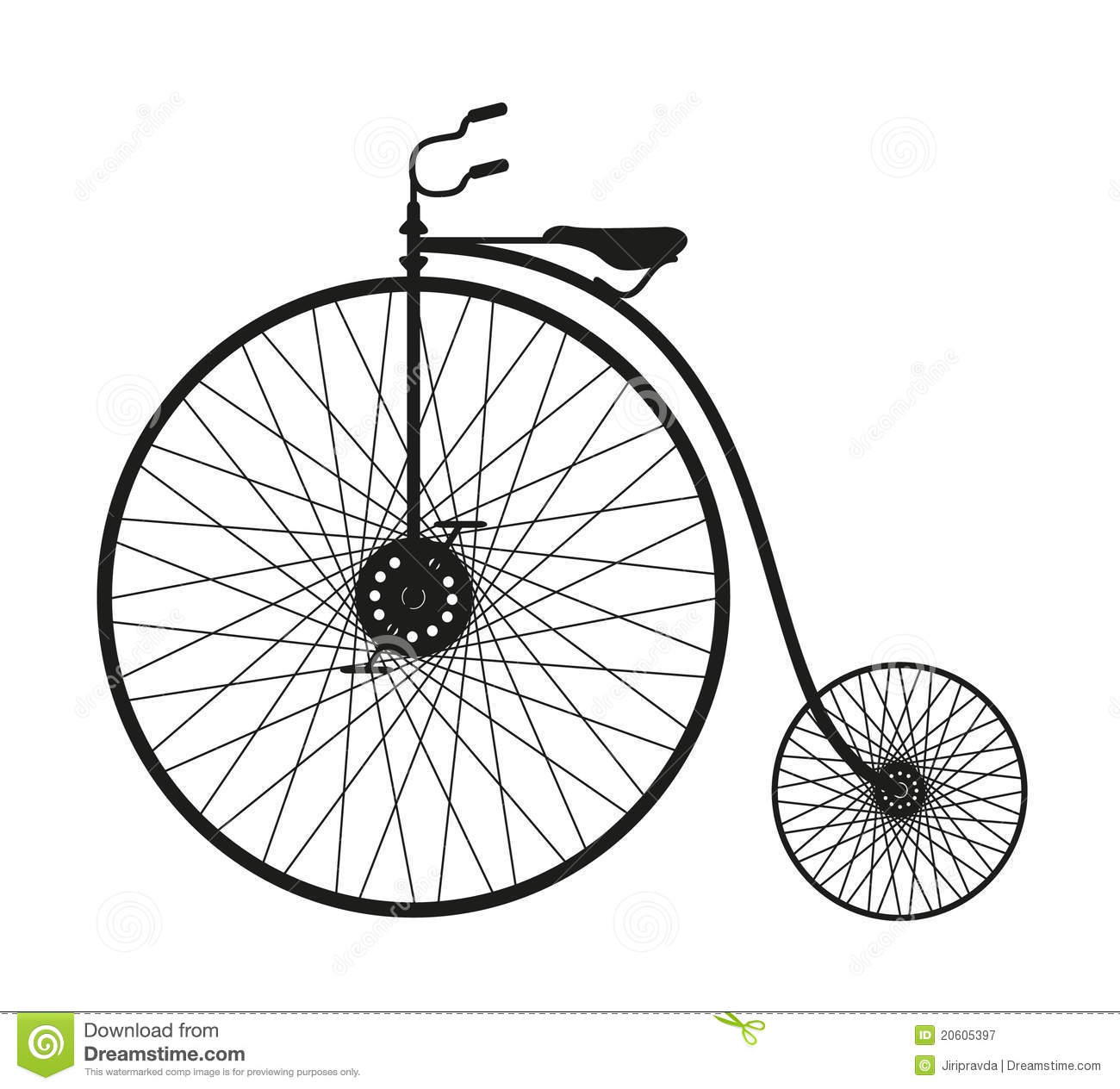 Silhouette Of An Old Bicycle Royalty Free Stock ...