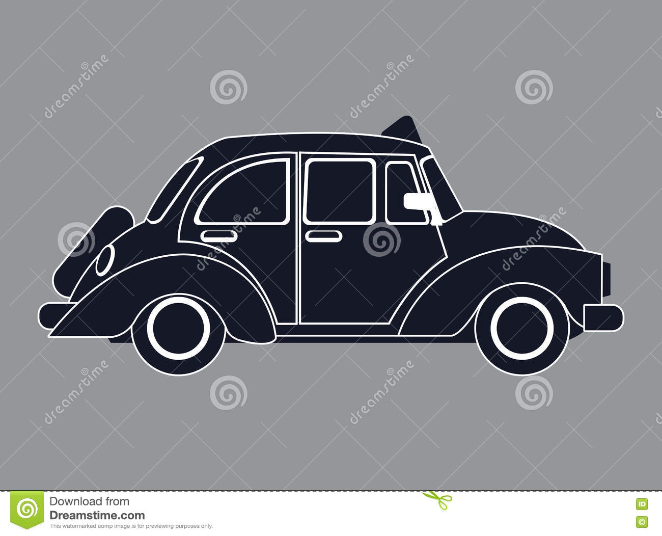 car silhouette of the old car stock photography 32446604. Black Bedroom Furniture Sets. Home Design Ideas