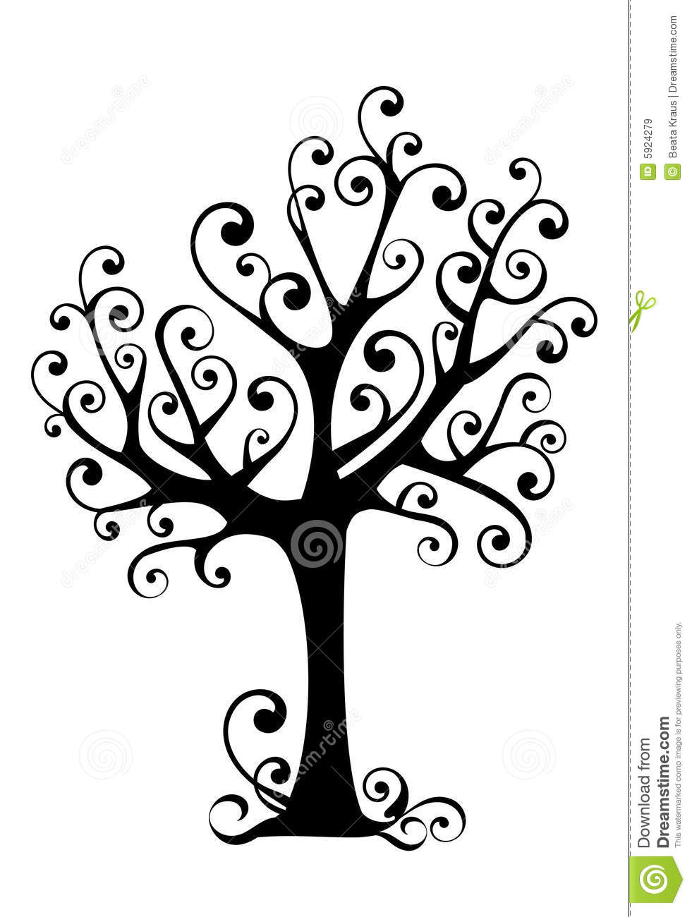 silhouette ornementale d u0026 39 arbre illustration de vecteur