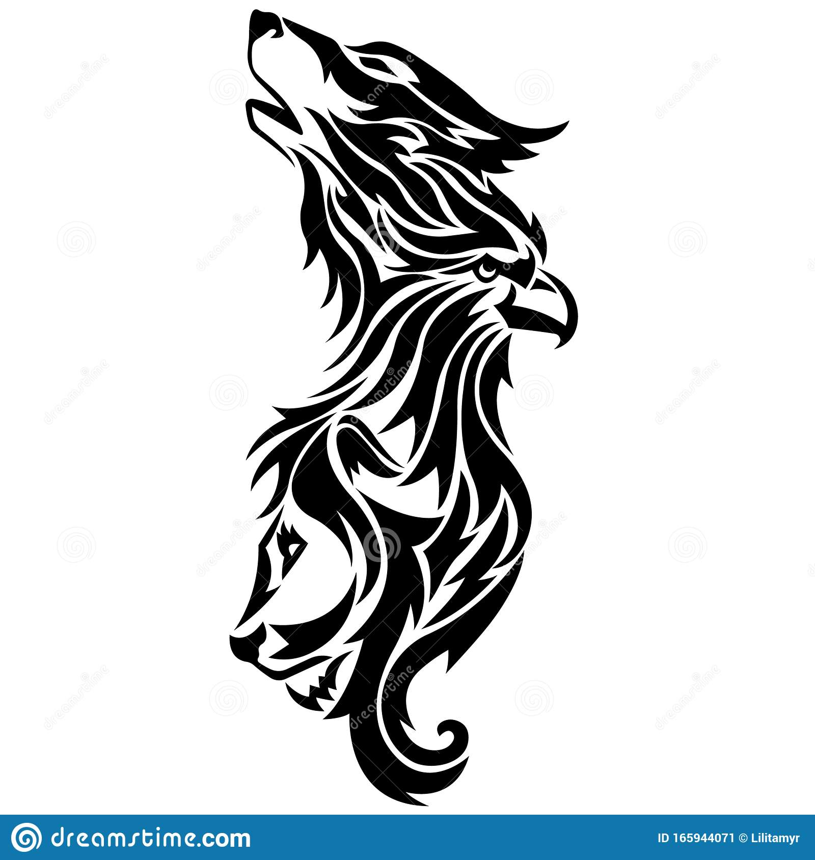 Silhouette Outline Wolf Eagle Lion Drawn In Black On A White Background With Lines Of Different Widths Stock Illustration Illustration Of Lion Graphic 165944071 Download 56 lion outline free vectors. https www dreamstime com silhouette outline wolf eagle lion drawn black white background lines different widths logo animal bird vector image165944071