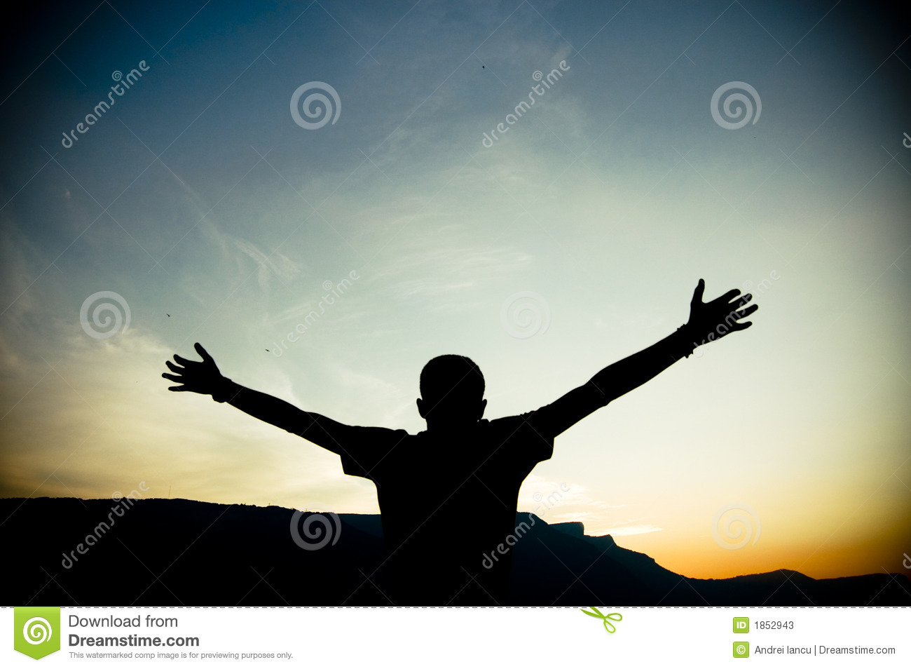 Silhouette of Outstretched Arms