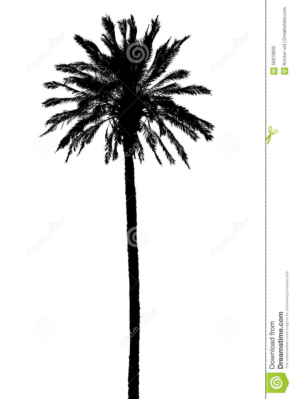 silhouette of palm trees realistic vector illustration stock