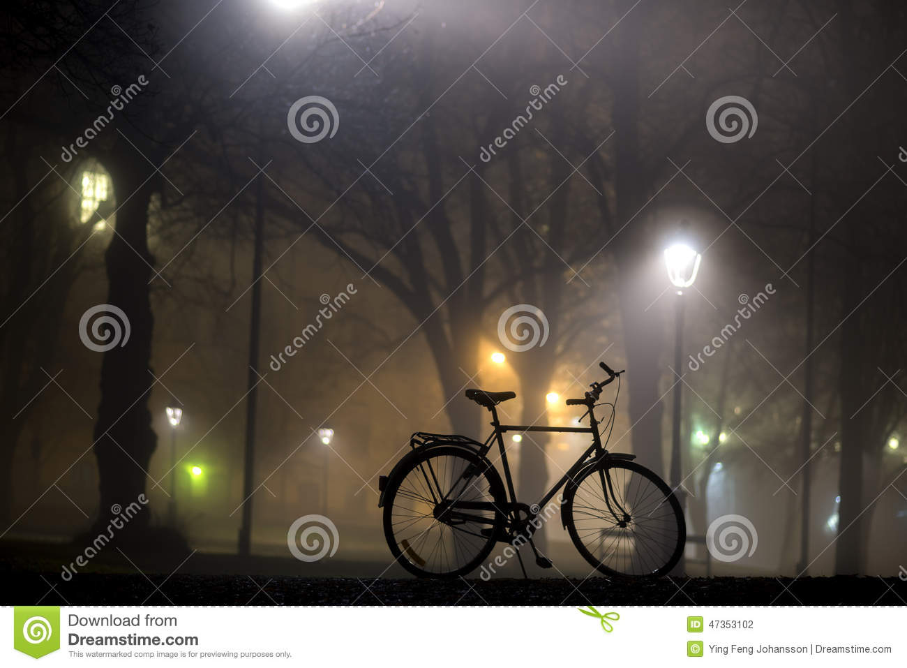 Bicycle Parked In Park Royalty-Free Stock Photography ...
