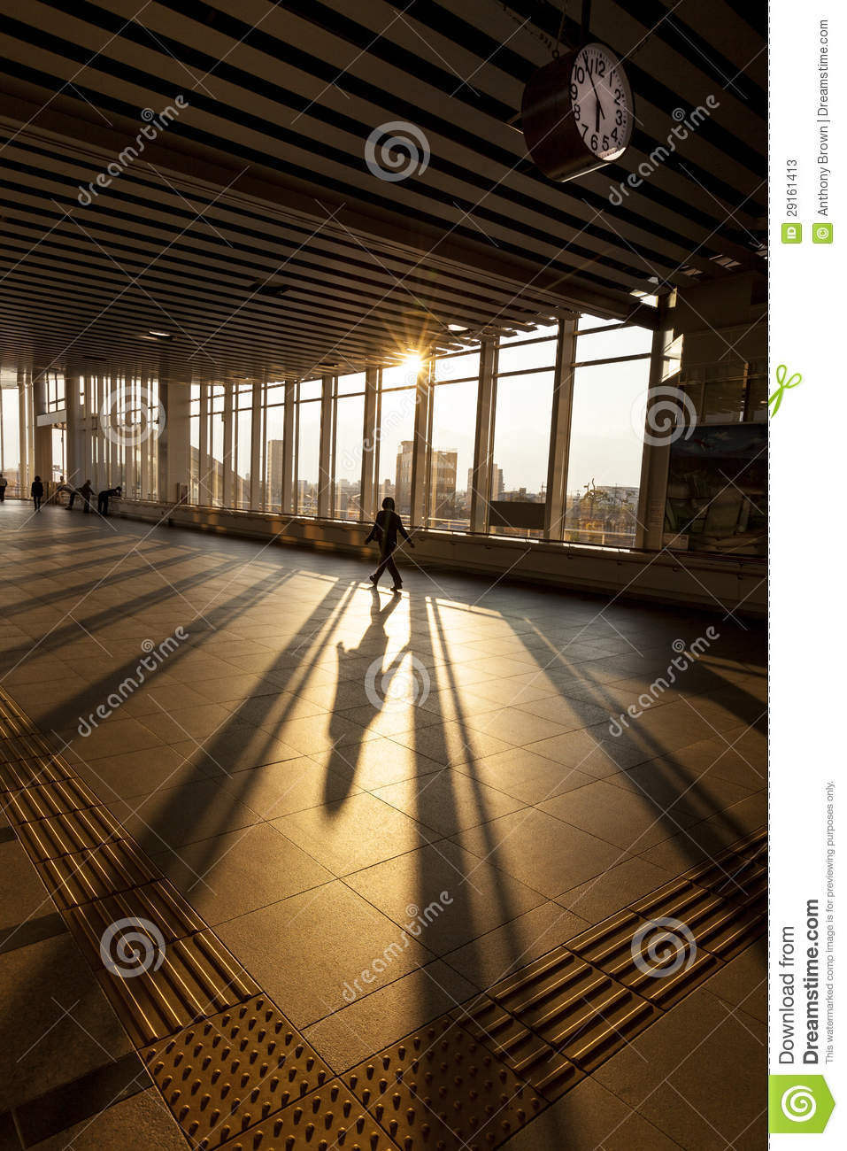 Silhouette Of Passenger In Modern Train Station Stock ...