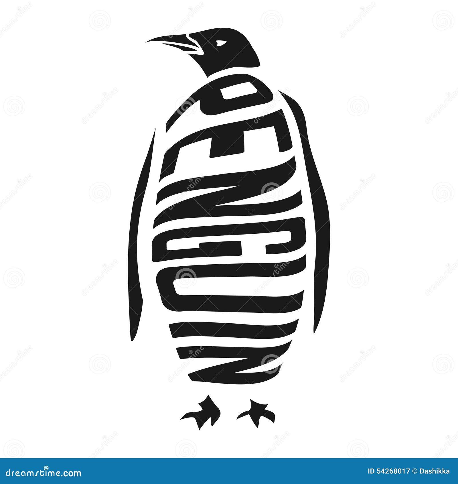 Silhouette Of Penguin ... King Clip Art Black And White