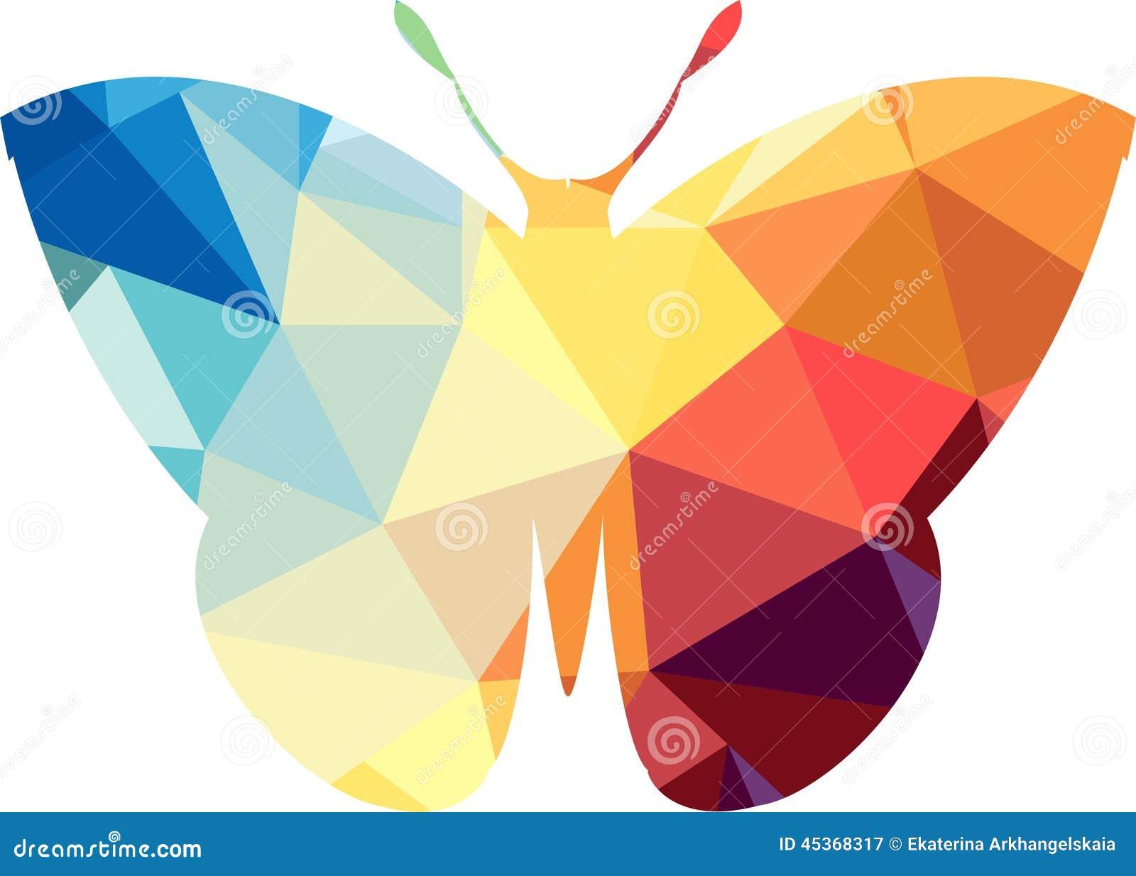 Silhouette polygonale de triangle de papillon