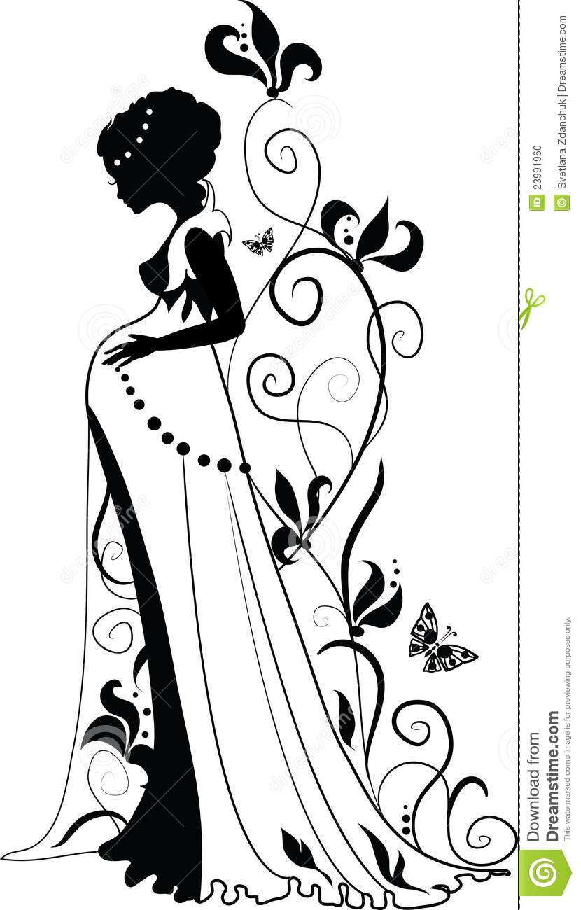 Silhouette Of Pregnant Woman Stock Vector - Image 23991960-3983