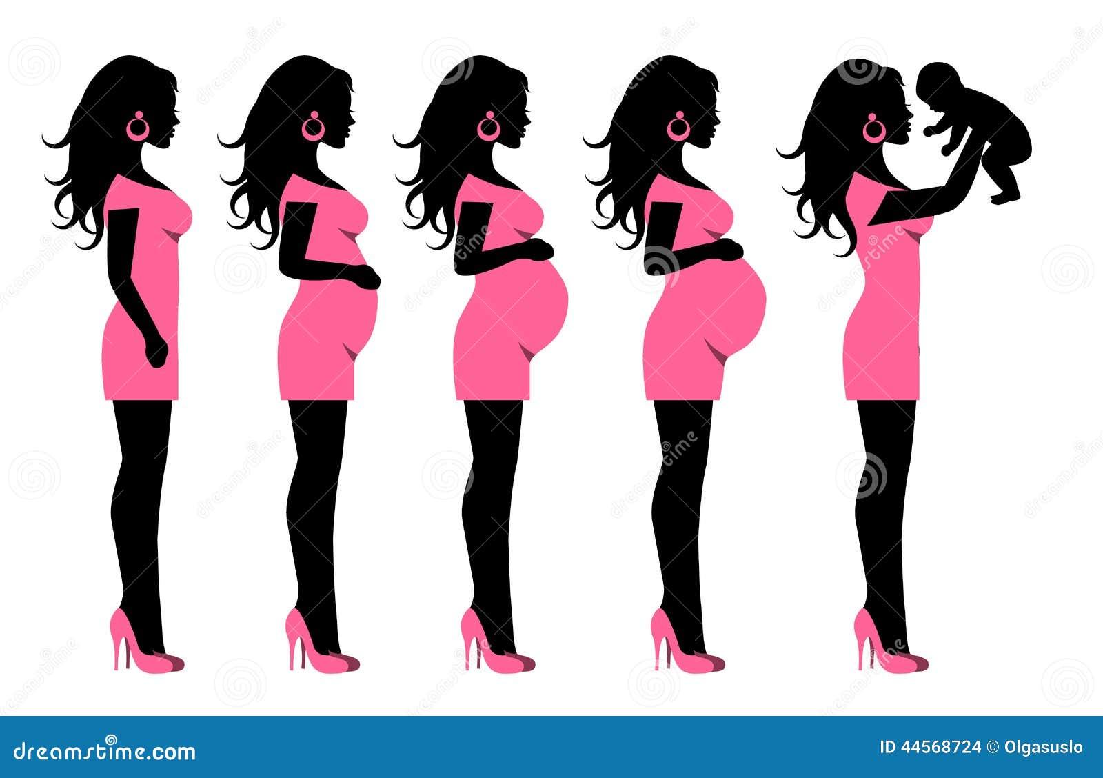 Как нарисовать беременную девушку с ребёнком 51