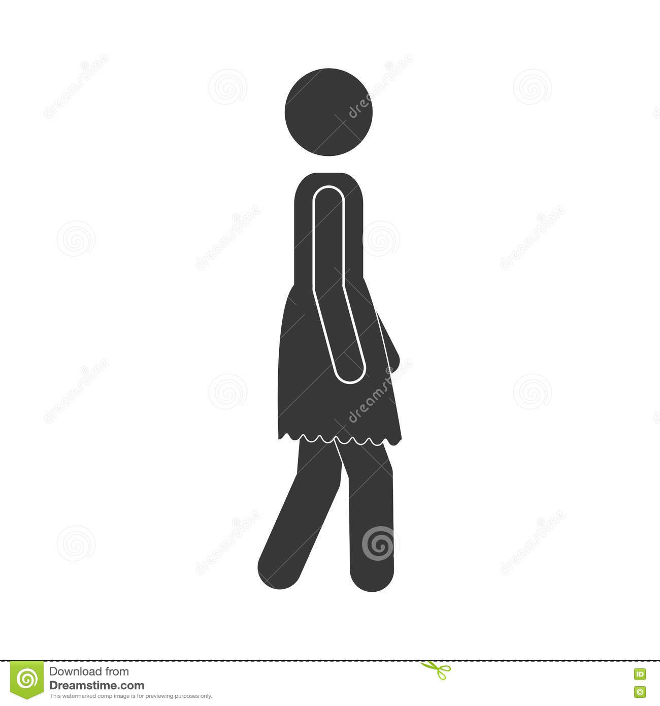 Silhouette Profile With Woman Walking Stock Vector ...