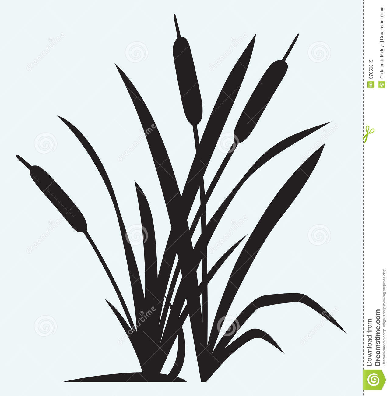 Silhouette Reed... Harvest Clip Art Black And White
