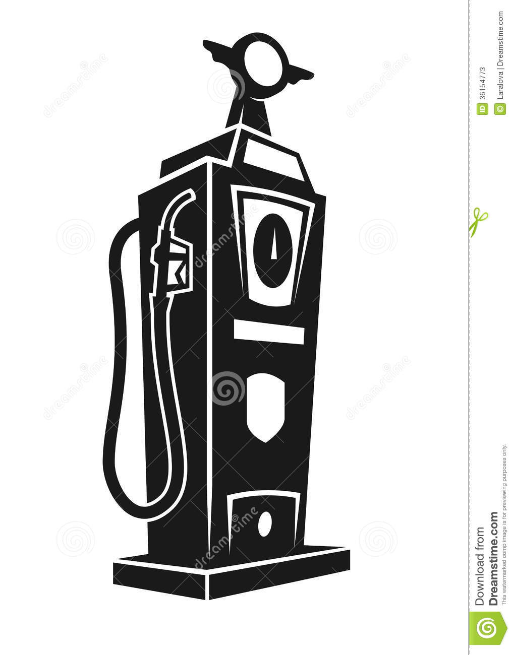 Silhouette Of Retro Gas Pump Stock Photos Image 36154773