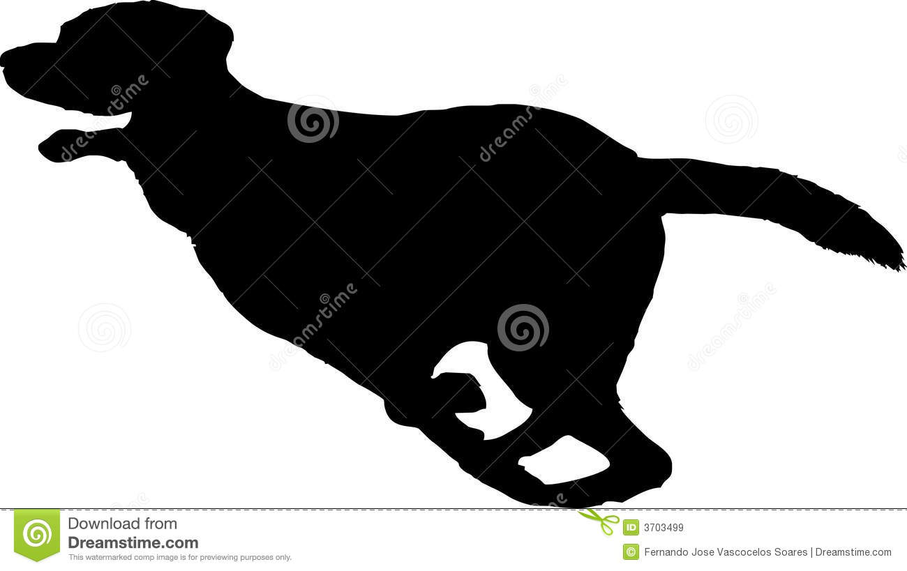 Silhouette Of A Running Dog Royalty Free Stock Images ...