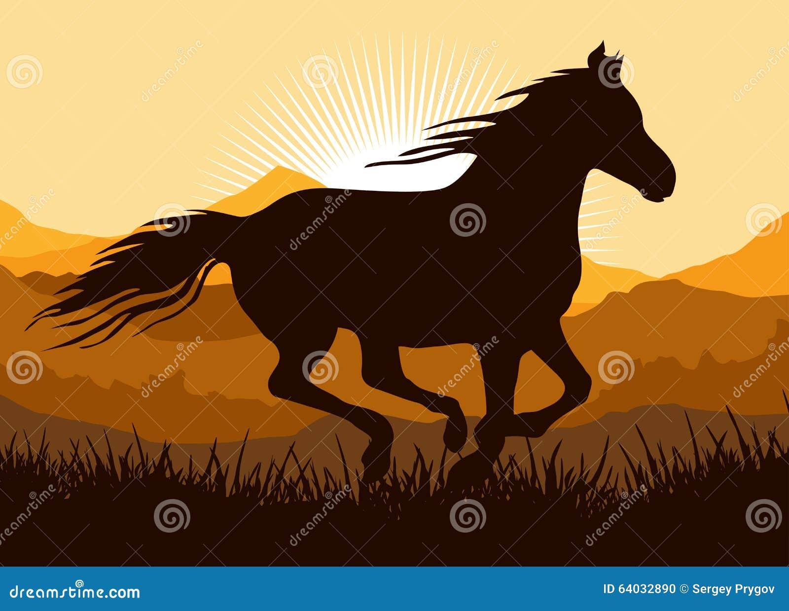 Horse Running Sunset Stock Illustrations 203 Horse Running Sunset Stock Illustrations Vectors Clipart Dreamstime