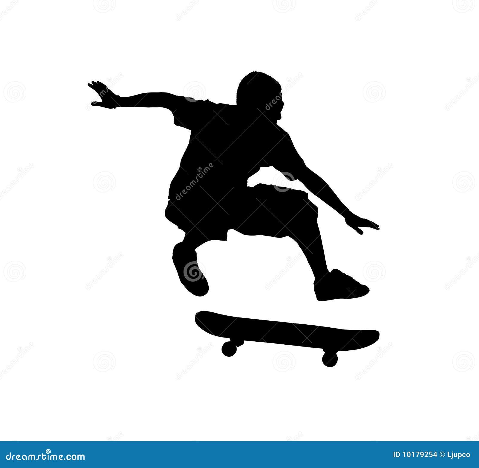 Silhouette of a skateboarder Skateboarder Silhouette Clip Art