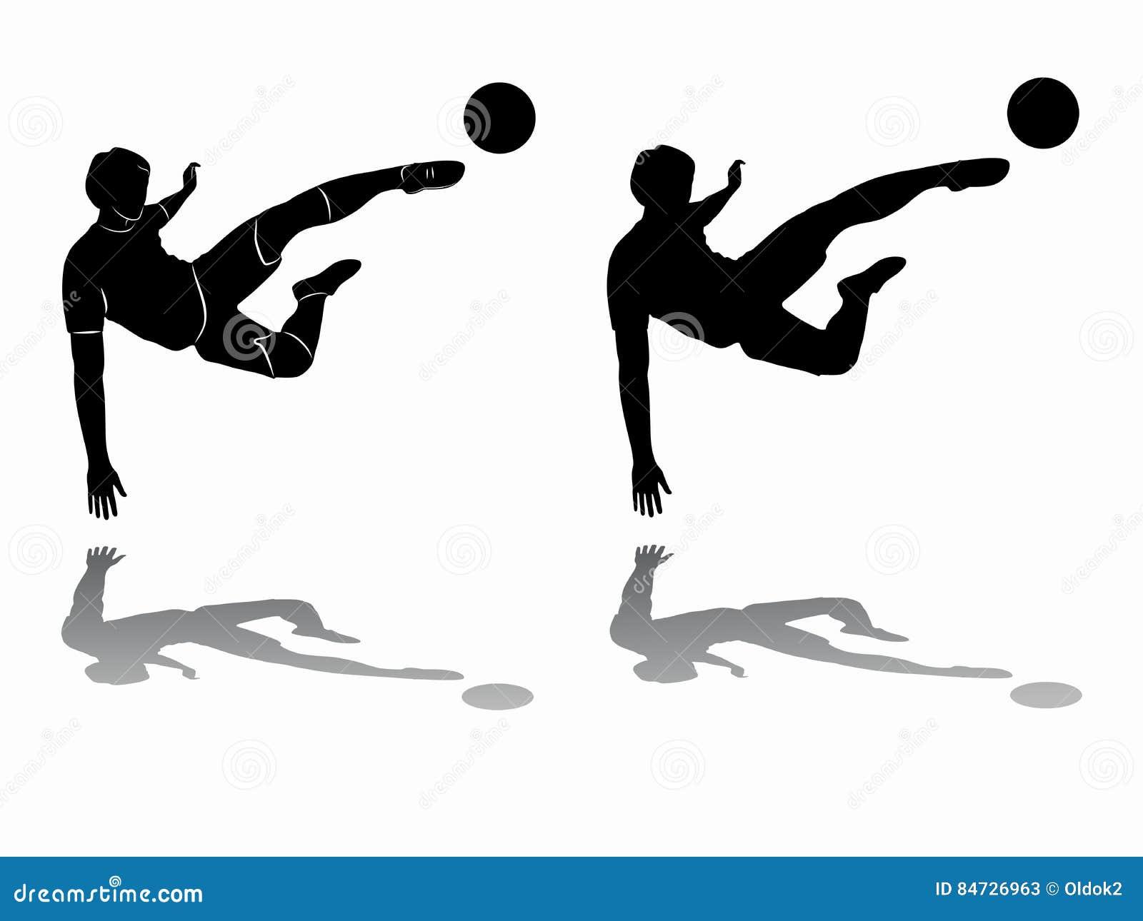 e8f0a9ea6 Silhouette Of Soccer Player, Vector Draw Stock Vector - Illustration ...