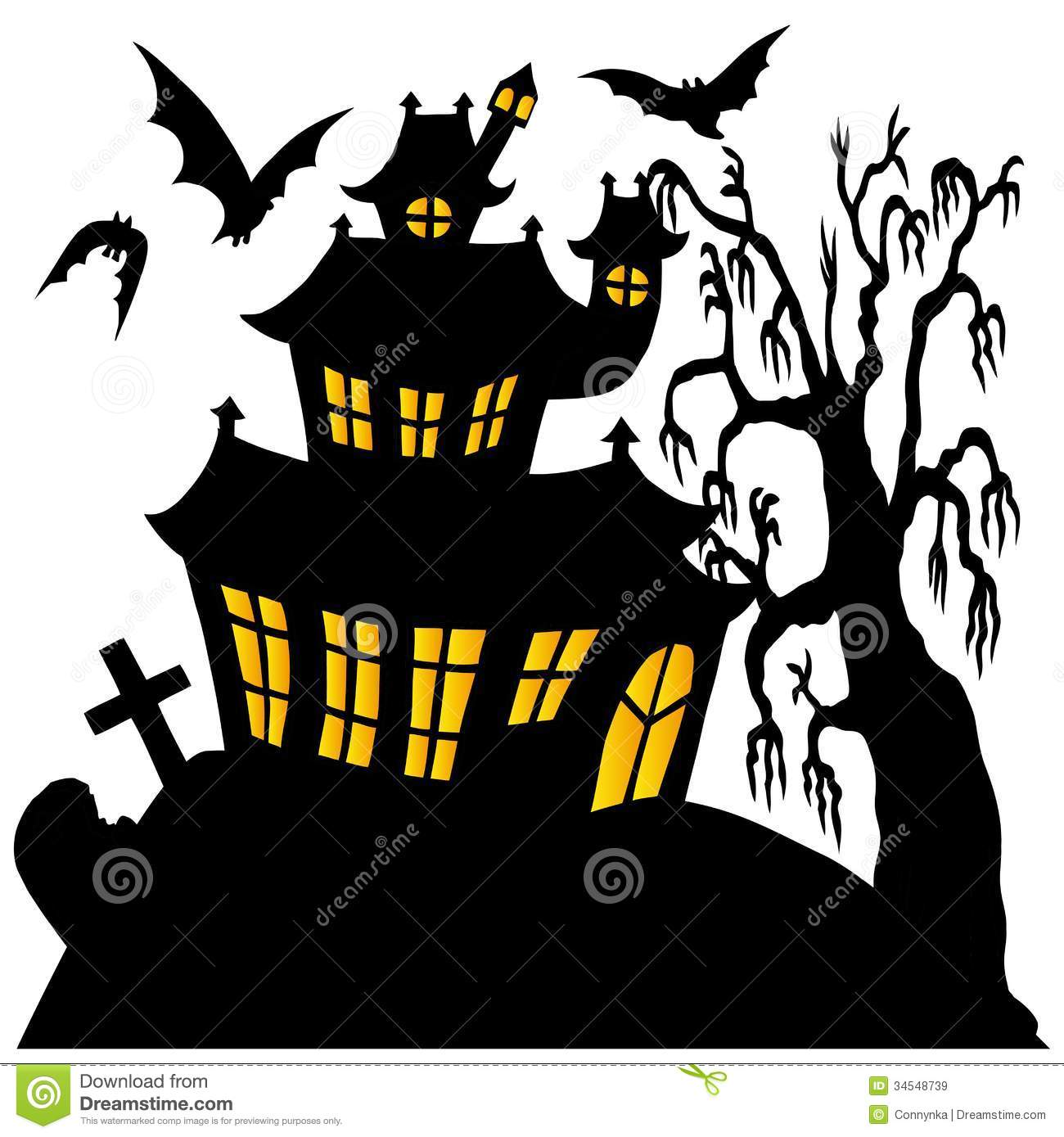silhouette spooky house 02 royalty free stock images tombstone shape vector tombstone vector free