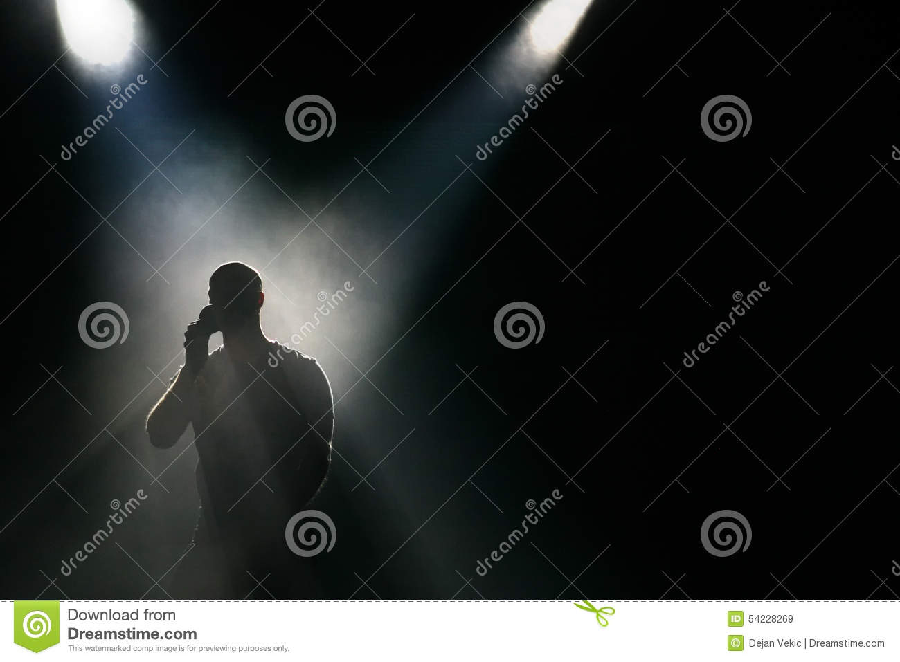 Silhouette at the stage