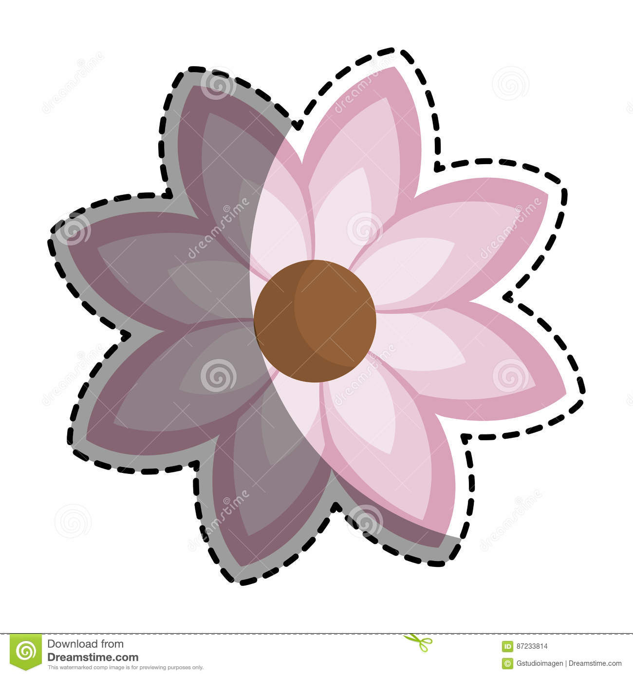 Silhouette sticker with pink flower icon floral stock vector floral flower icon illustration pink dhlflorist Images