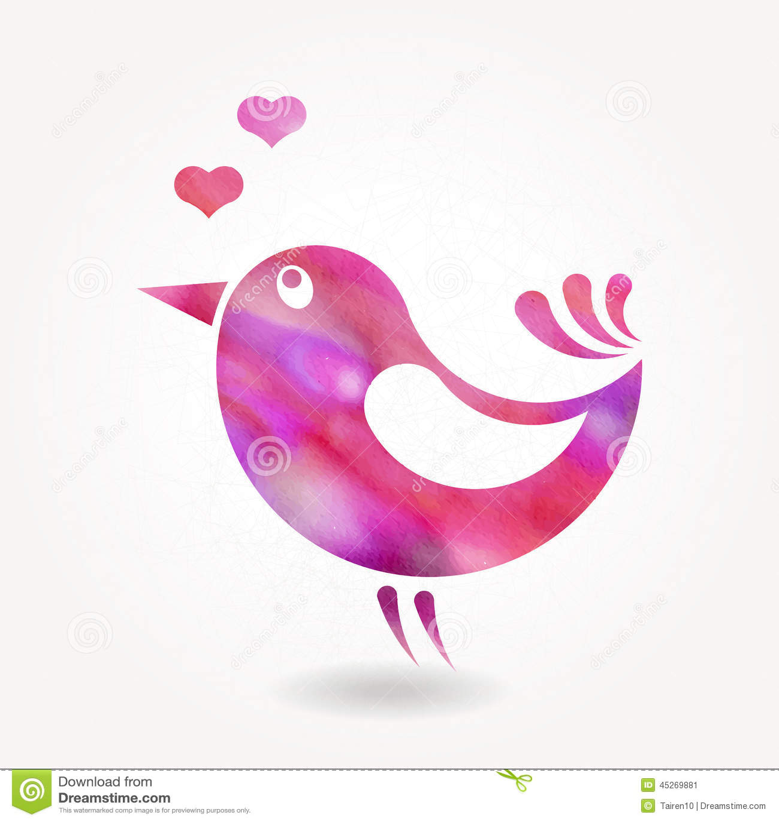 Silhouette stylis e de petit oiseau illustration de for Petit oiseau avec houpette