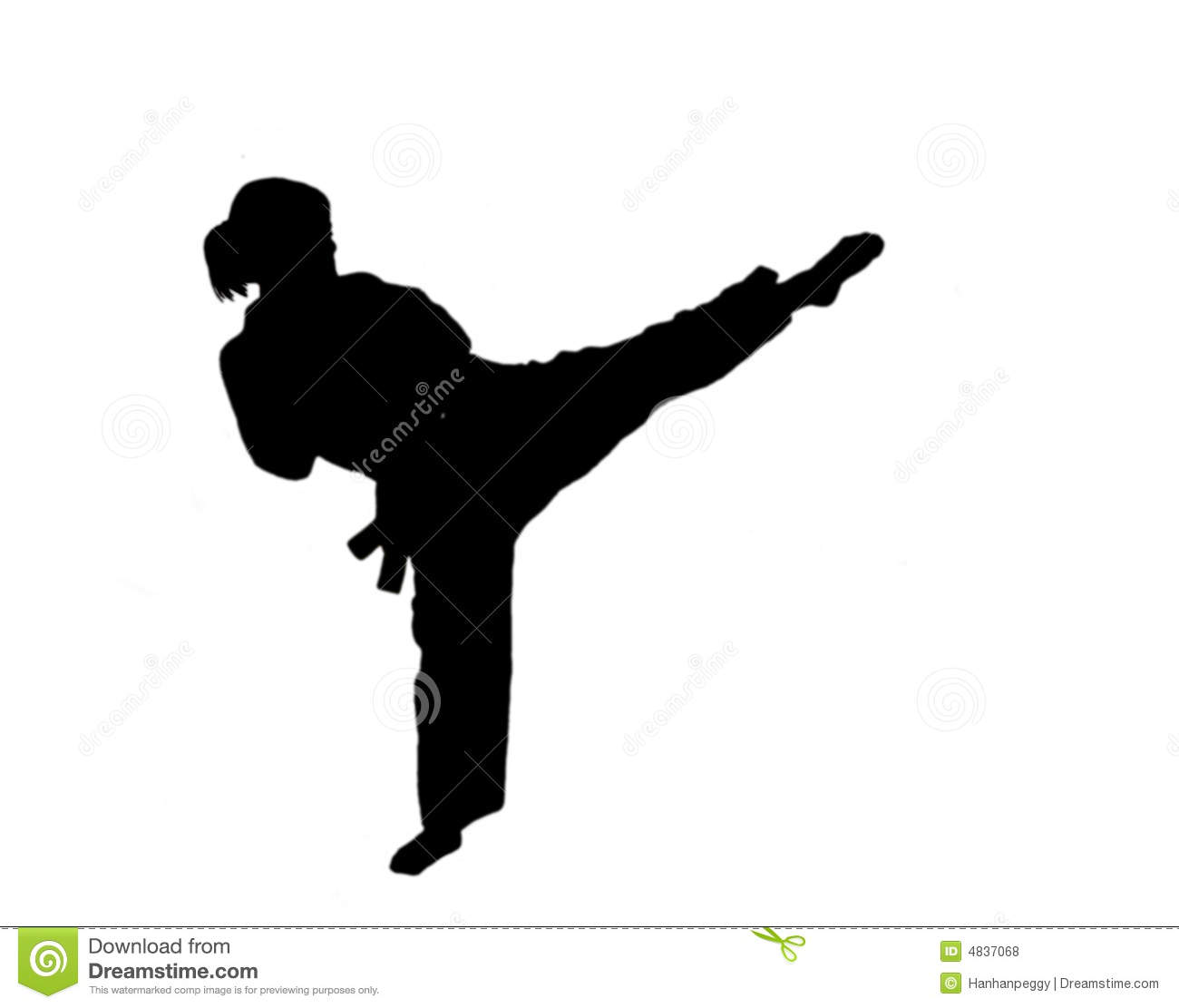silhouette of taekwondo girl stock photo image of corean fight rh dreamstime com