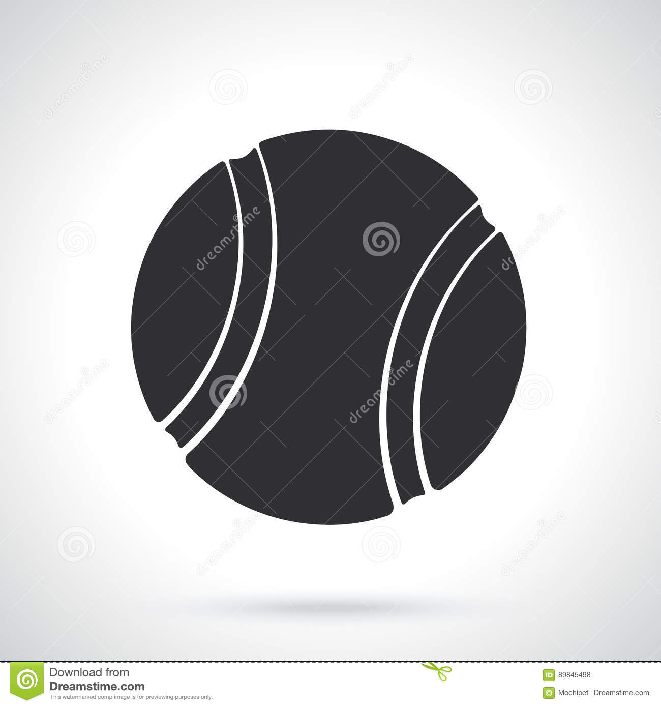 Silhouette Of Tennis Ball Stock Vector Illustration Of Abstract