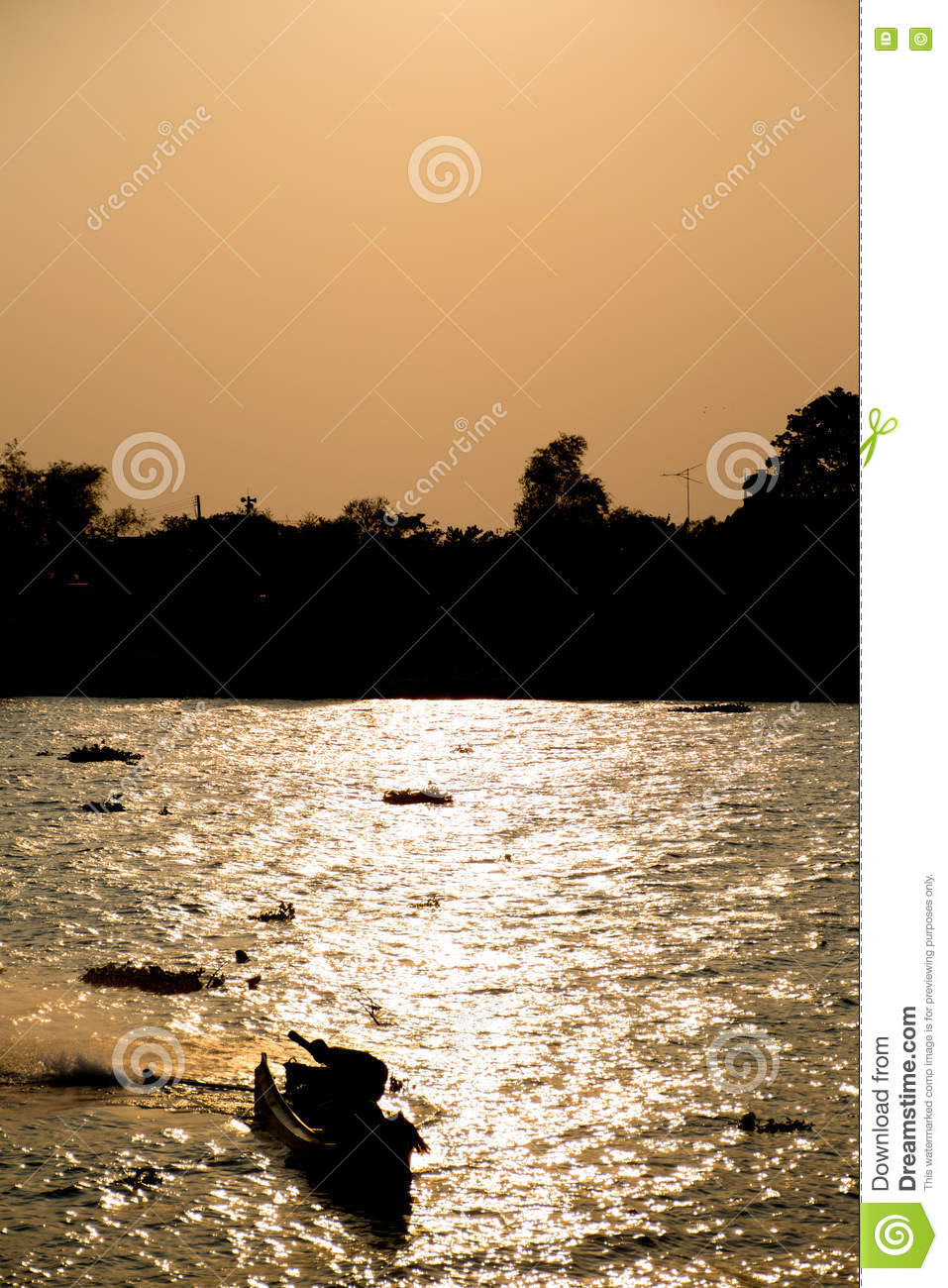 Silhouette of thai fishing boat royalty free stock for Fishing times free