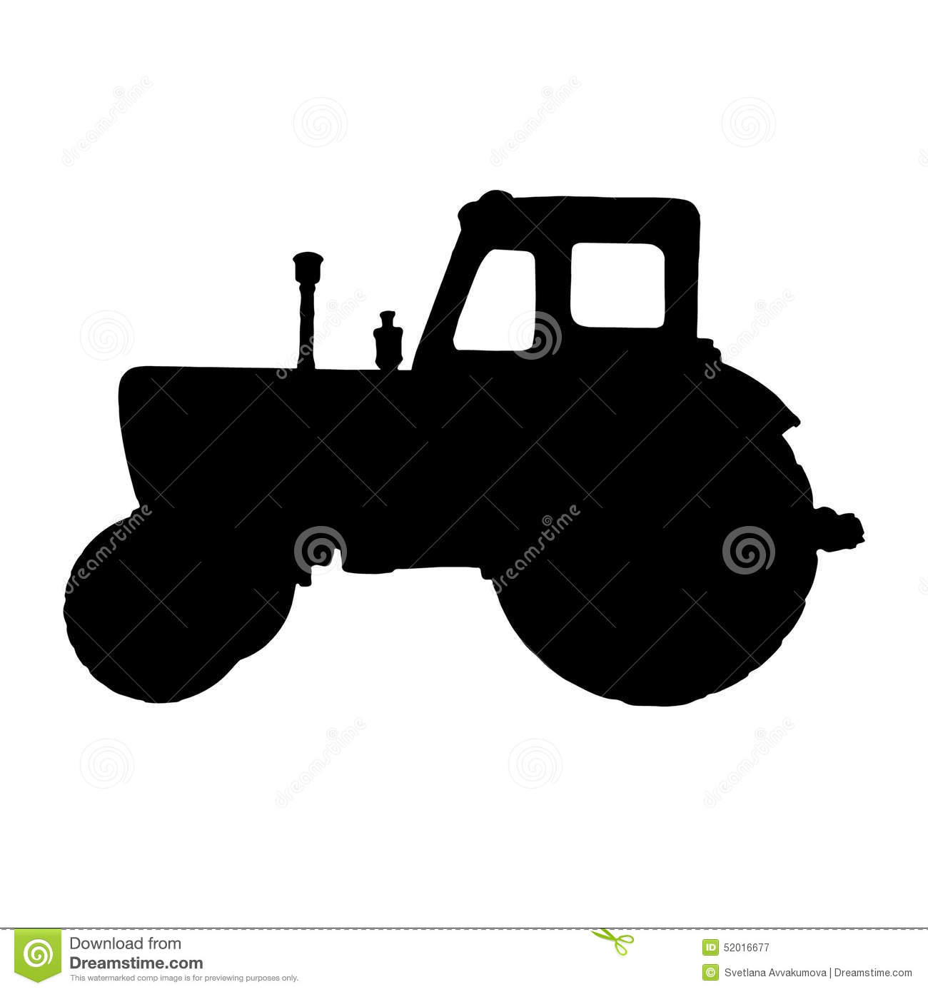 Silhouette Tractor Black White Background on Z Car Symbol