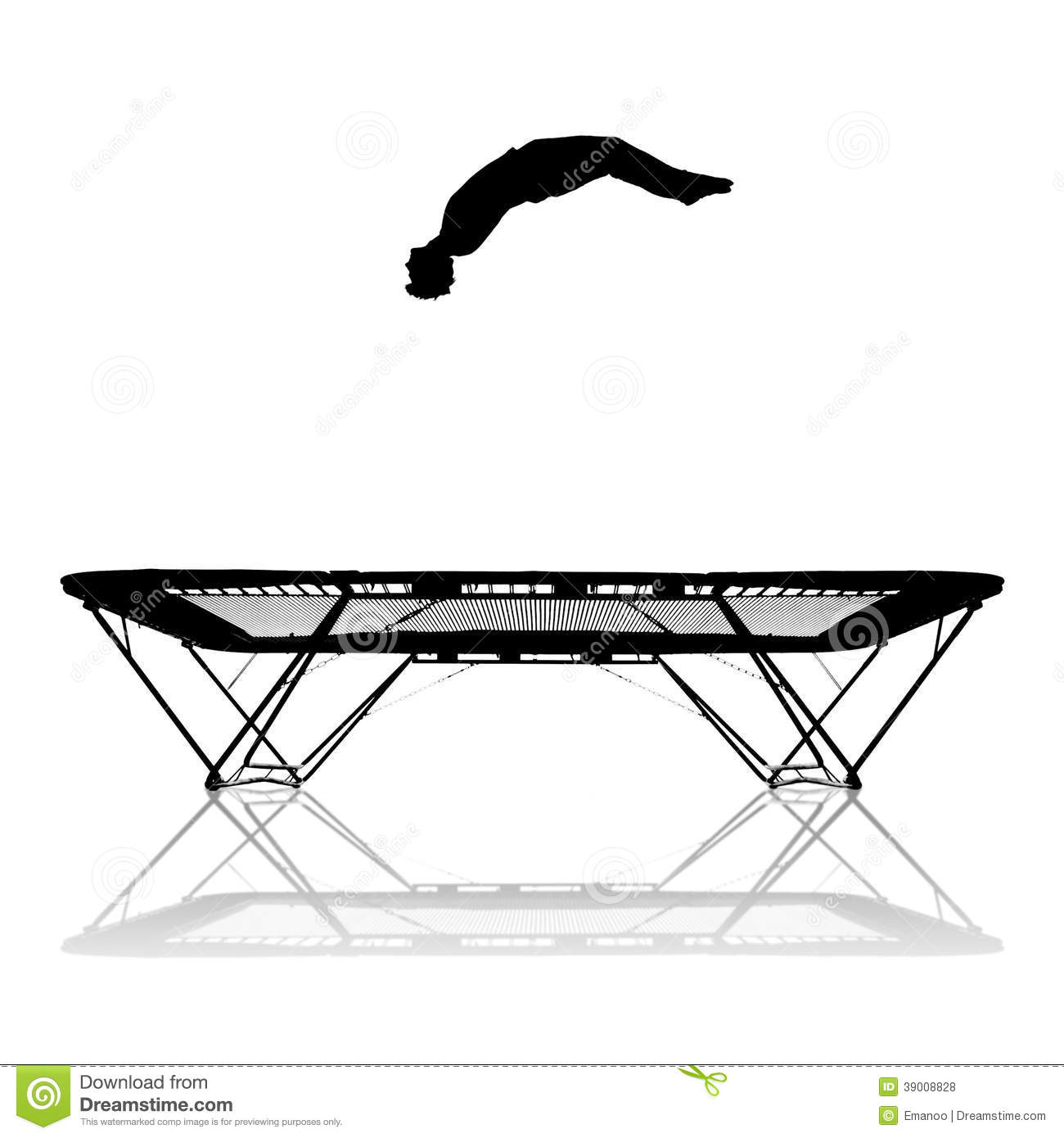 Silhouette On Trampoline Stock Photo Image Of Flip