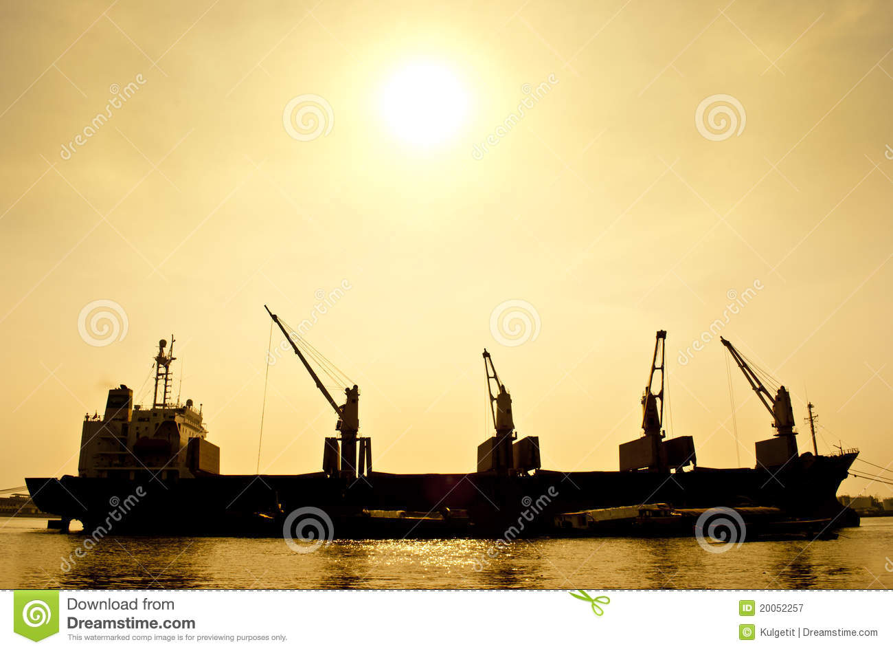 Silhouette Transport Boat Royalty Free Stock Photography - Image ...