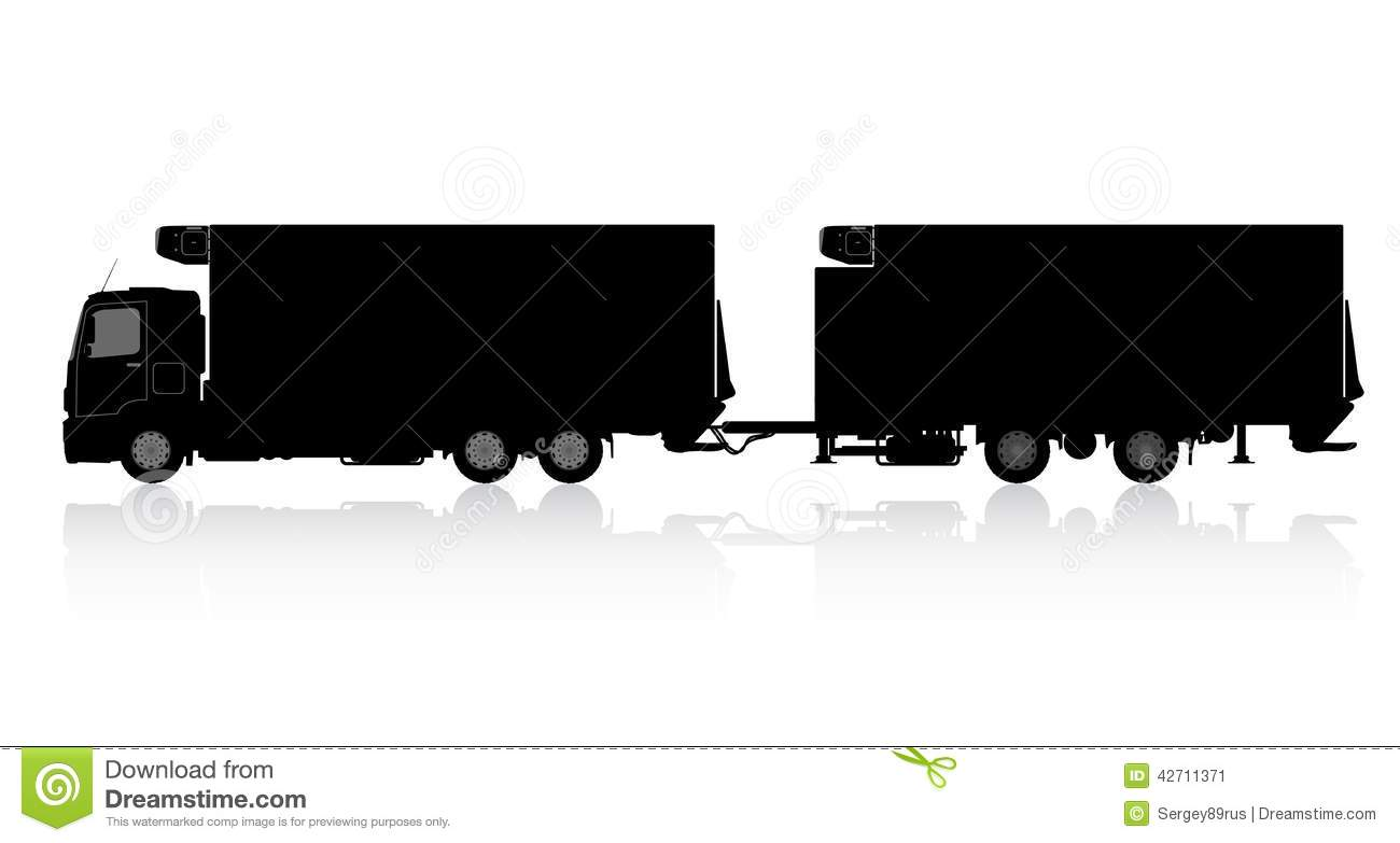 silhouette of a truck with a trailer stock illustration semi truck clip art pictures semi truck clipart free