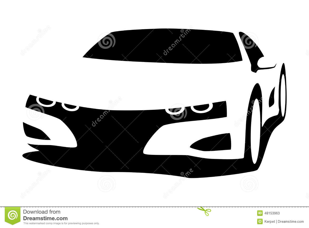 Silhouette tuning car stock vector. Illustration of vehicle - 48153963