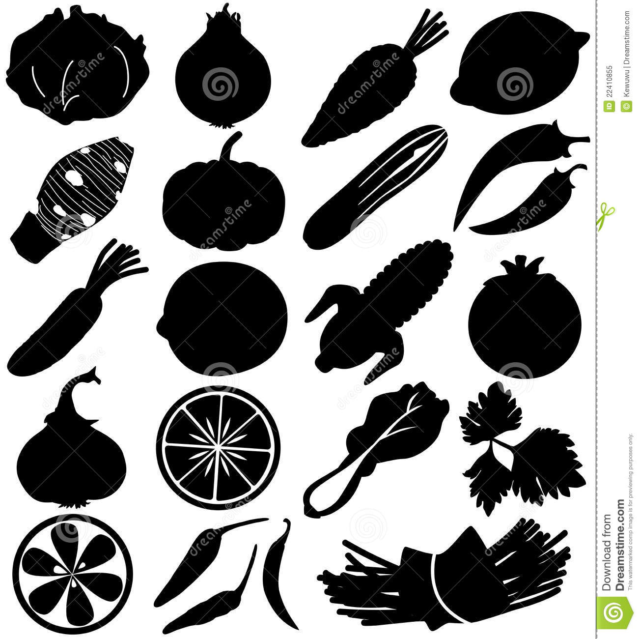 More similar stock images of ` Silhouette Vector of Fruit & vegetable ...