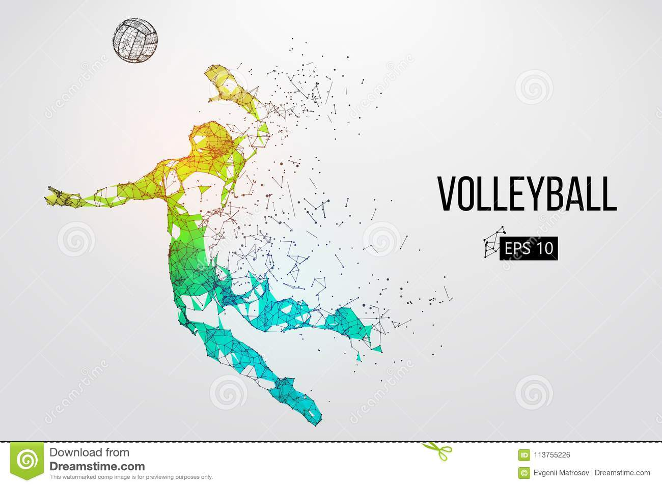 Abstract Triangle Volleyball Player Silhouette Stock: Volleyball Cartoons, Illustrations & Vector Stock Images