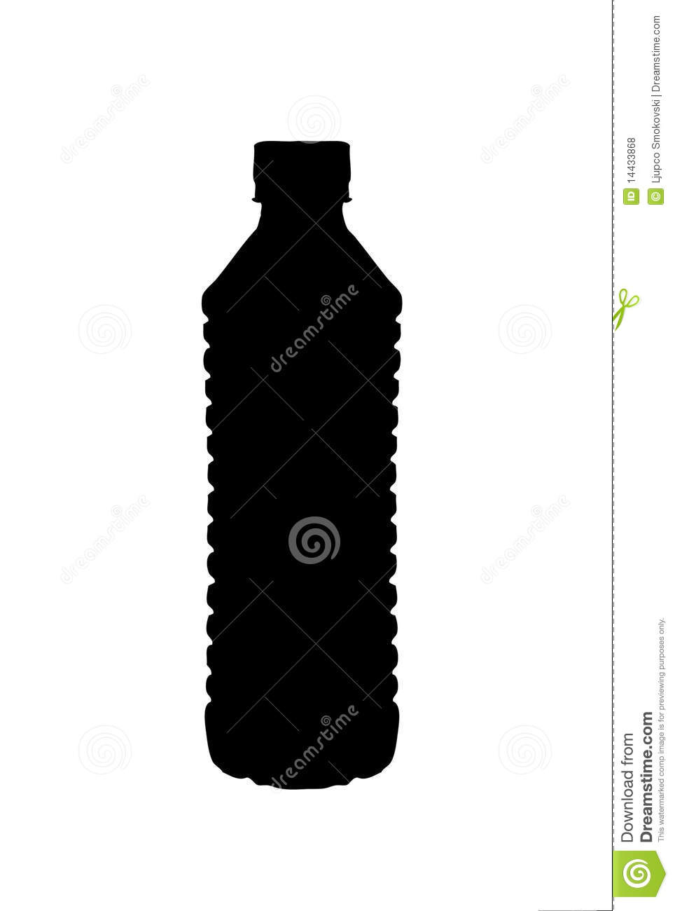 Silhouette Of A Water Bottle Royalty Free Stock Photos - Image ...