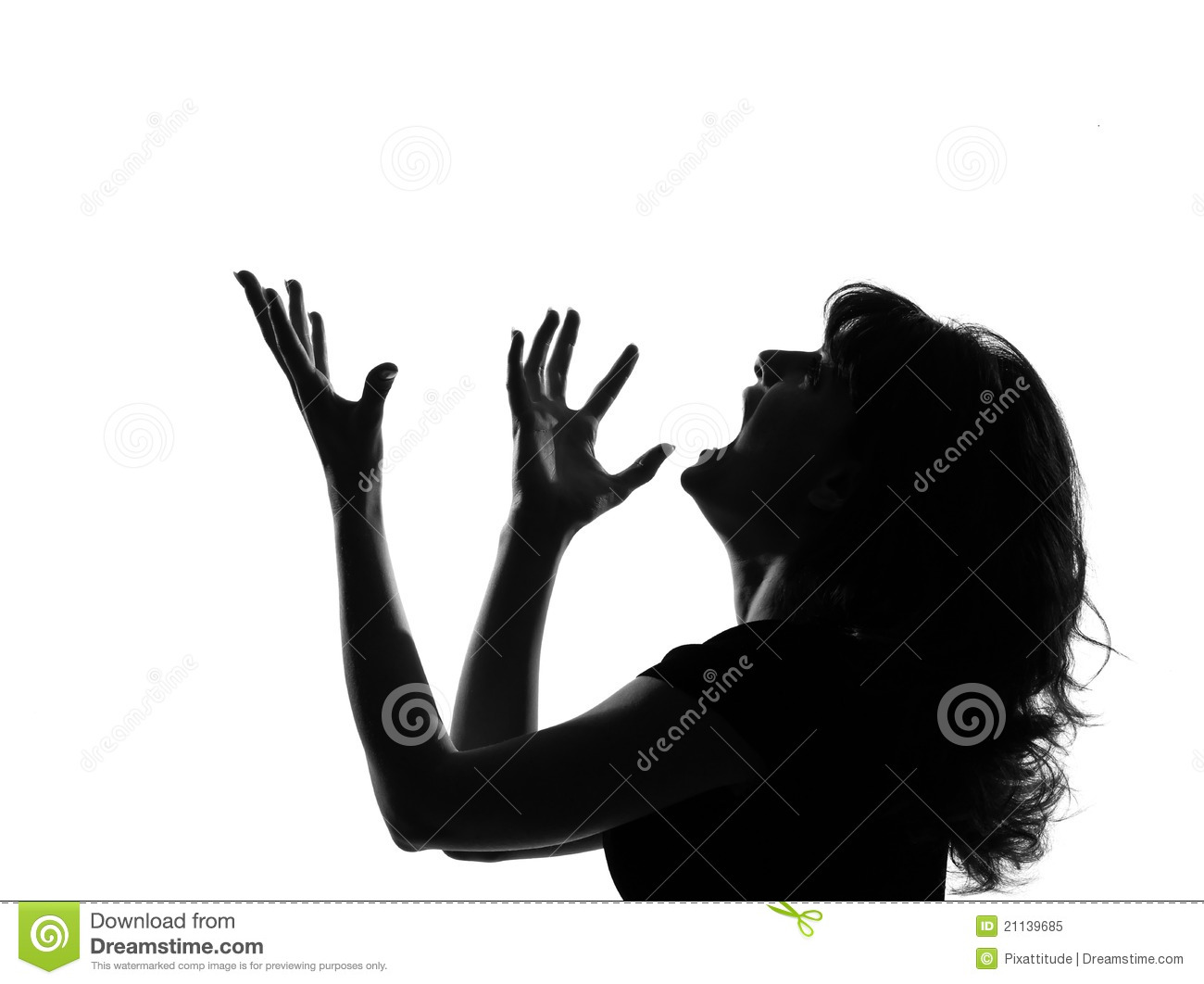 Young Man Silhouette Screaming Angry Portrait Stock Photos - Image ...