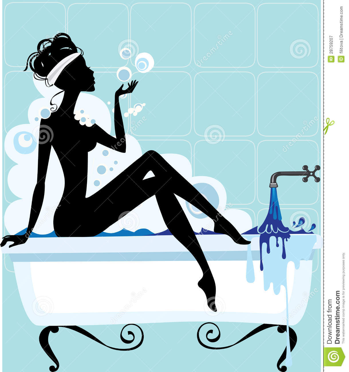 silhouette of a woman in a bathtub royalty free stock photography image 28759207. Black Bedroom Furniture Sets. Home Design Ideas