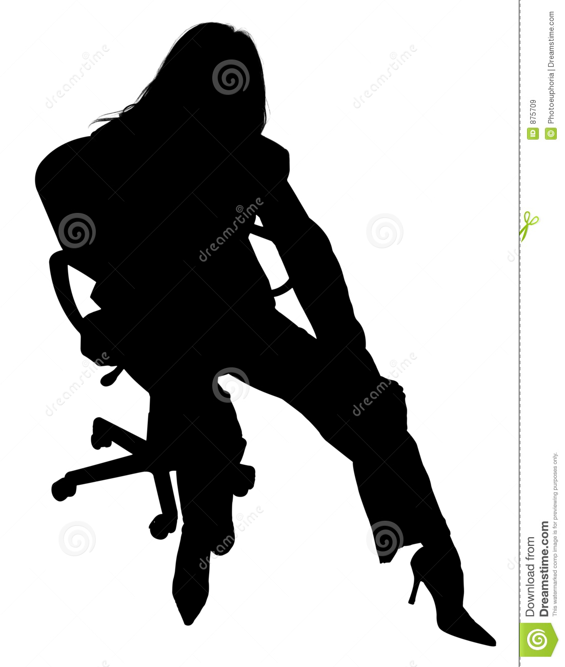 Silhouette Of Woman In Chair Royalty Free Stock Images - Image: 875709