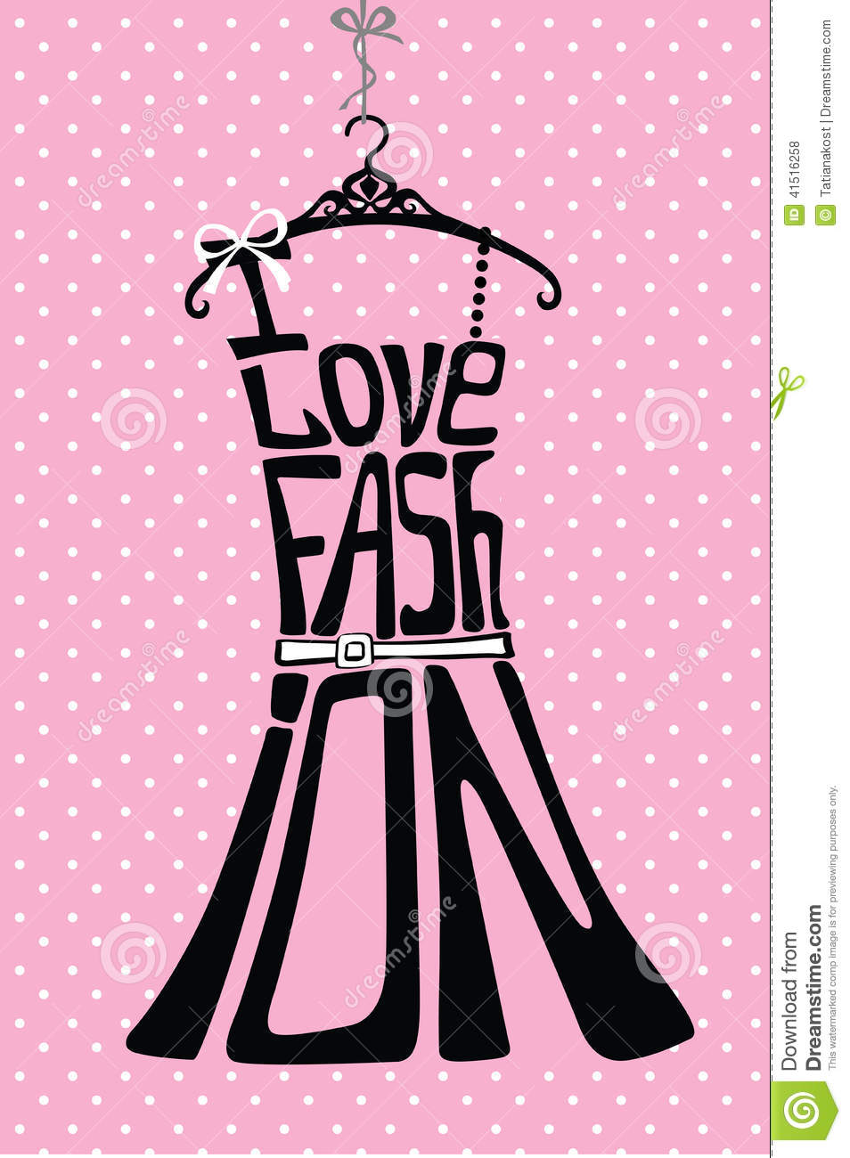 silhouette of woman dress from words stock illustration