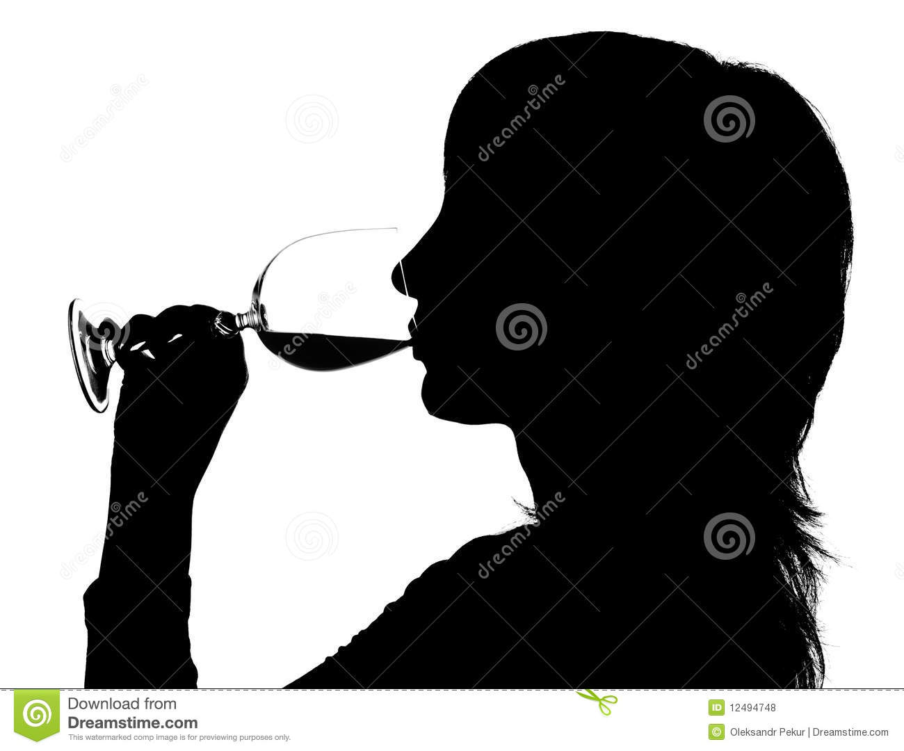 Girl Drink Water Silhouette