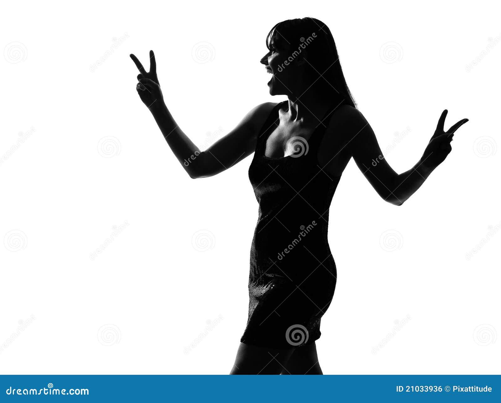 Silhouette Woman Laugh...