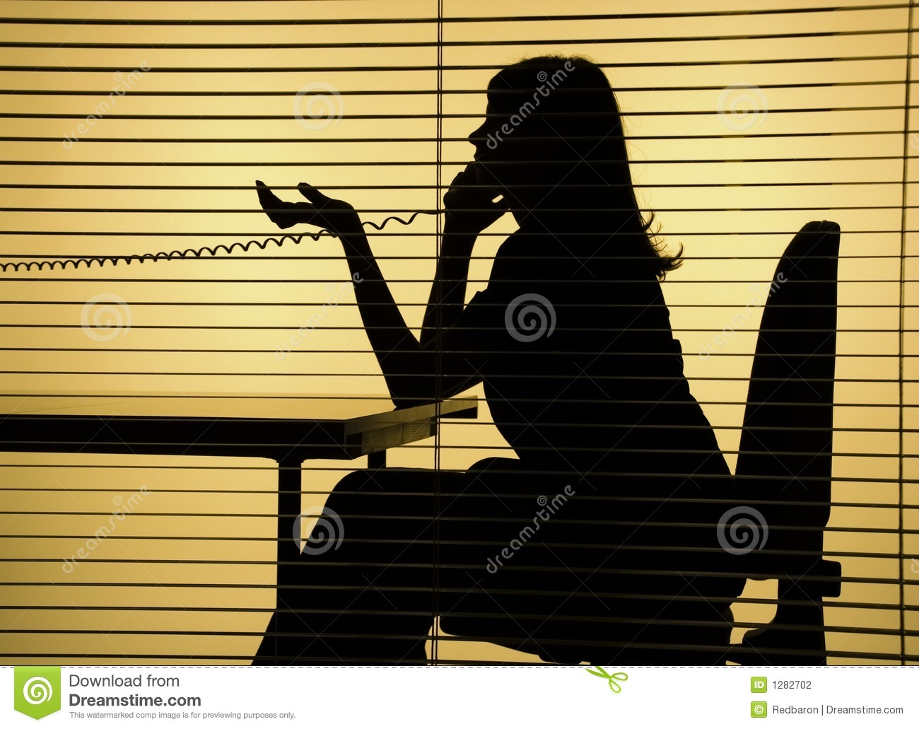 Silhouette Of Woman On The Phone Stock Photo Image Of