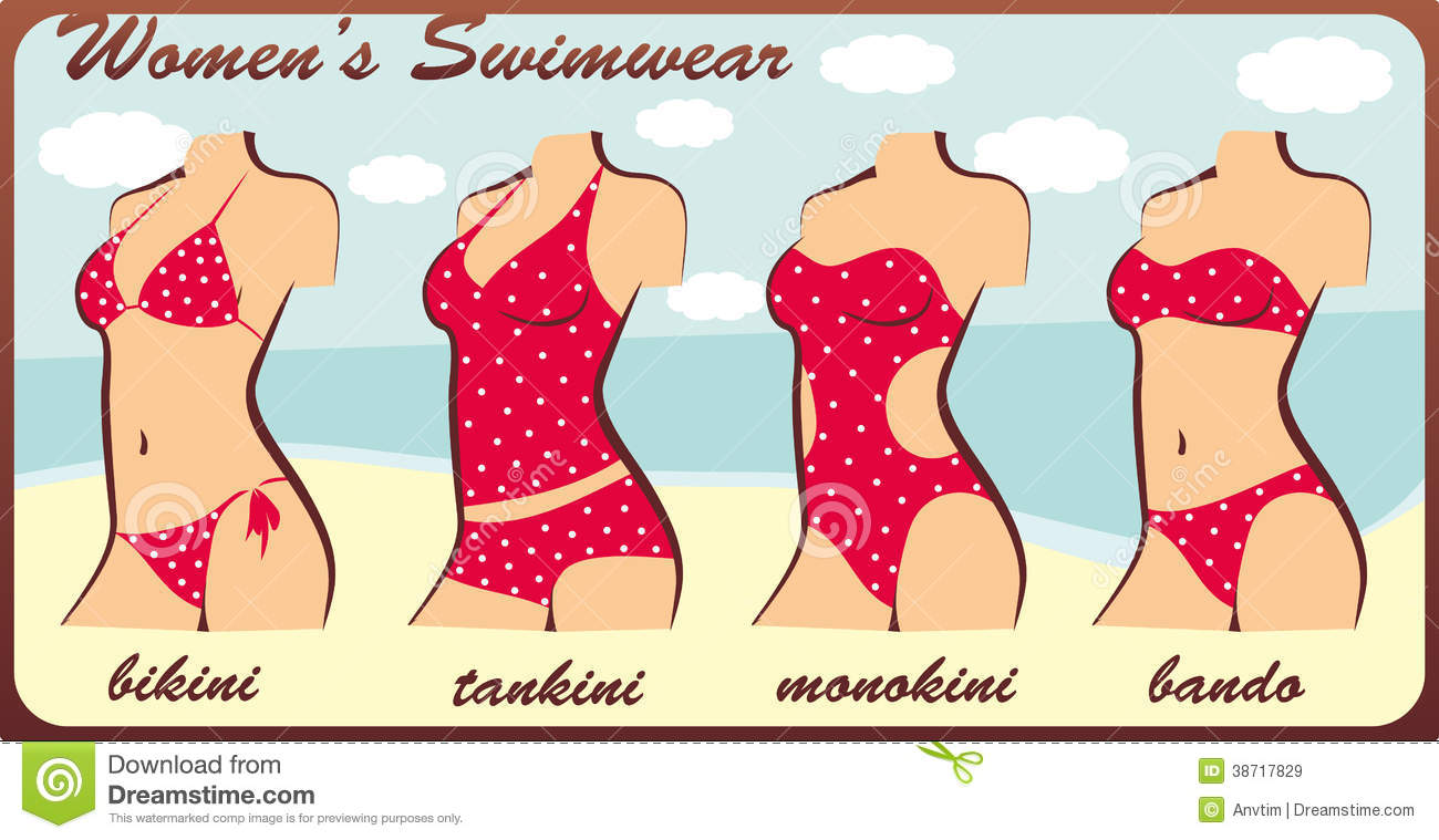 82180d910d Silhouette womens swimwear stock vector. Illustration of cute - 38717829