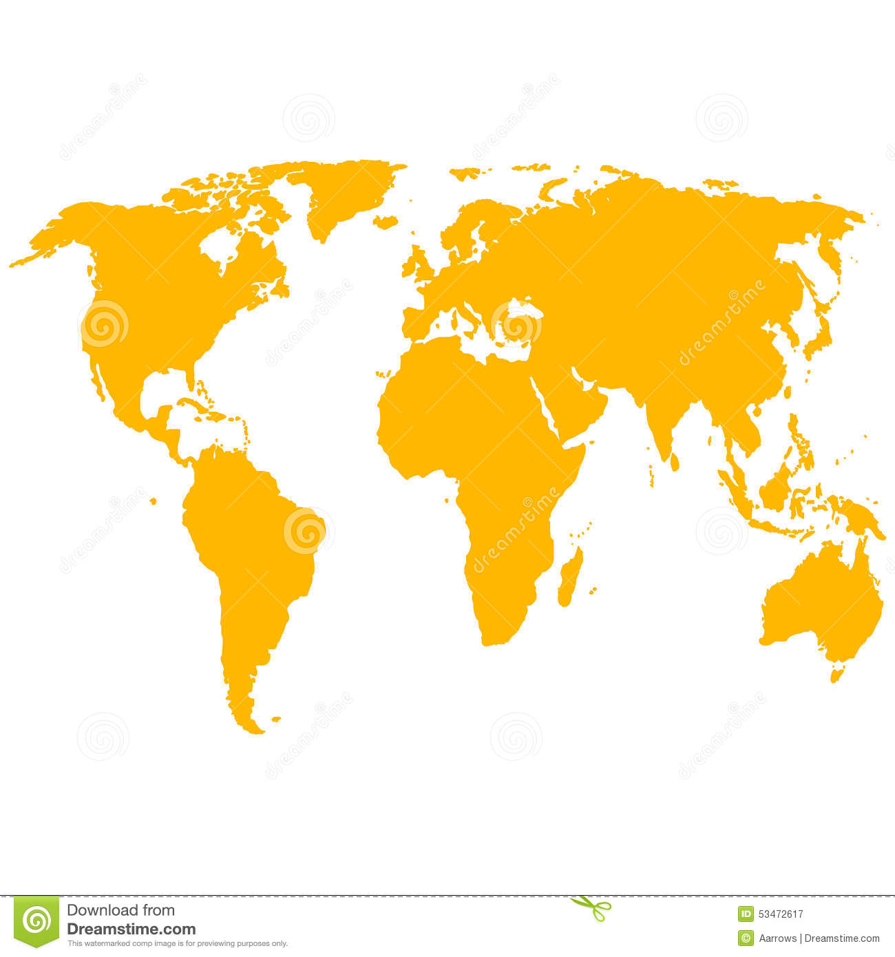 Silhouette world map vector illustration stock vector download comp gumiabroncs Gallery