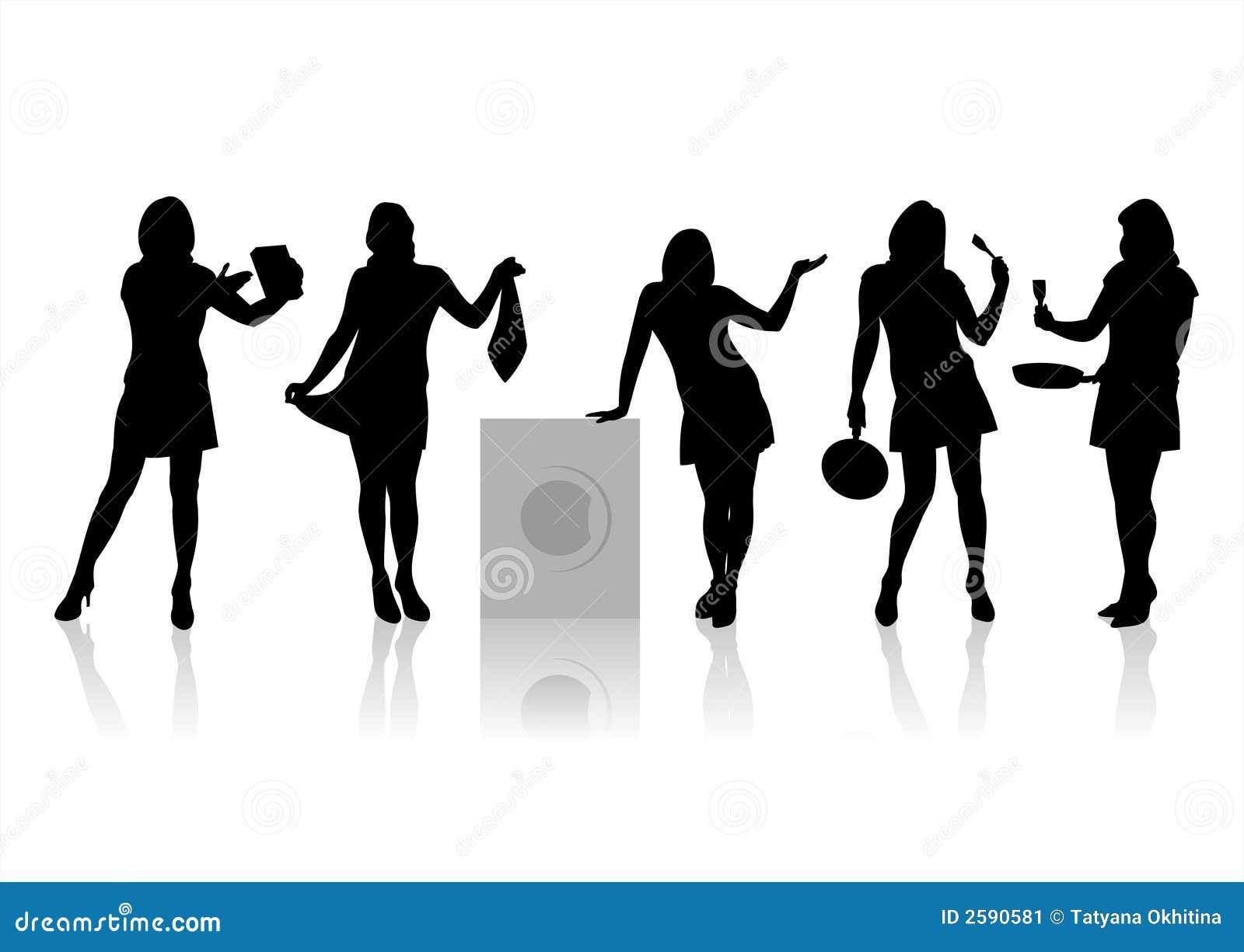 Silhouetten 5 van vrouwen